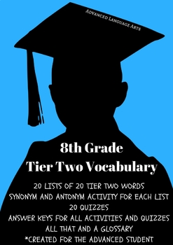 Advanced Language Arts Tier Two Power Words for 8th Grade