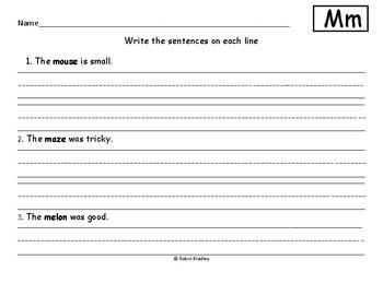 Preschool Letter M Homework Worksheet
