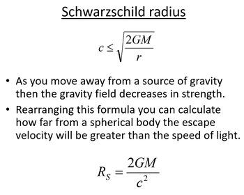 Advanced Level Astrophysics Black holes & Supernovae (Lesson & PowerPoint)