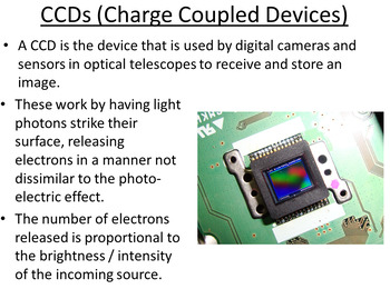Advanced Level Astrophysics Charge Coupled Devices (Lesson plan and PowerPoint)