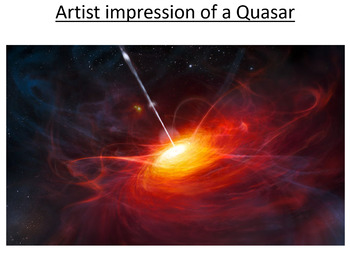 Advanced Level Astrophysics Distance ladder and Quasars (Lesson & PowerPoint)