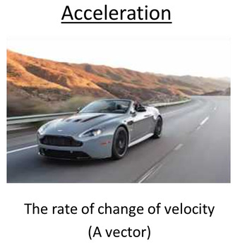 Advanced Level Physics - Acceleration (Lesson plan and PowerPoint)