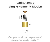 Advanced Level Physics - Applications of Simple Harmonic Motion (PowerPoint)