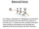 Advanced Level Physics - Balanced Forces (Lesson plan and PowerPoint)