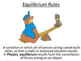 Advanced Level Physics - Equilibrium Rules (Lesson plan and PowerPoint)