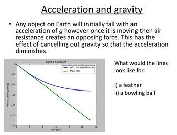 Advanced Level Physics - Freefall (Lesson plan and PowerPoint)