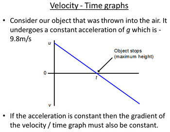 Advanced Level Physics - Motion Graphs (Lesson plan and PowerPoint)