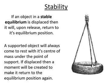 Advanced Level Physics - Stability (Lesson plan and PowerPoint)