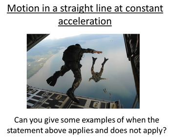 Advanced Level Physics - Straight line motion (Lesson plan and PowerPoint)