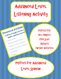 Advanced Level Spanish Listening Activity - McDonalds Commercial