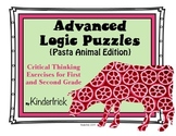 Advanced Logic Puzzles for 1st and 2nd Grades {Pasta Anima