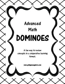 Advanced Math Dominoes