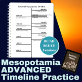 Ancient Mesopotamia ADVANCED - Timeline Practice