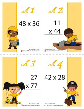 Multiplication War – Advanced Level Math Game: Double-Digit by Double-Digit