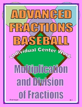 Multiplying and Dividing Fractions Individual Baseball