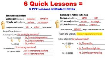 Advanced Negatives Unit Pack: 6 PPT Lessons, Student Notes, Worksheets