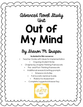 Advanced Novel Study for Out of My Mind