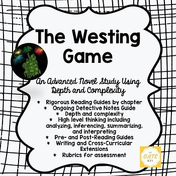 Advanced Novel Study for the Westing Game with Depth and Complexity