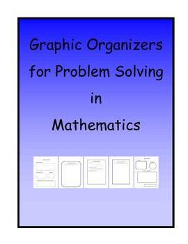 Math Problem Solving Graphic Organizers