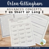 Advanced Orton-Gillingham Activities Y Sounds (short I and