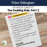 Advanced Orton-Gillingham Activities for The Doubling Rule