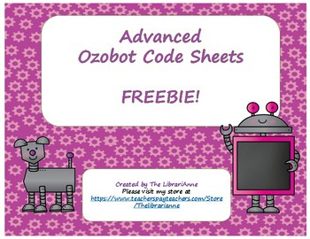 Advanced Ozobot Code Sheets