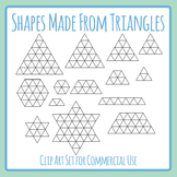 Advanced Pattern and Symmetry Templates - Shapes Made From Triangles Clip Art