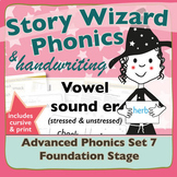 Advanced Phonics Set 7: Stressed and Unstressed ER (schwa)
