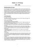 Advanced Placement 3D Design Syllabus