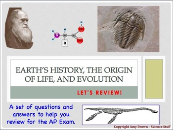 Advanced Placement (AP) Biology Review: Evolution, Earth's History