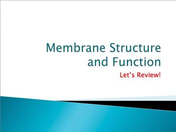 Advanced Placement (AP) Biology Review PPT: Cell Membranes
