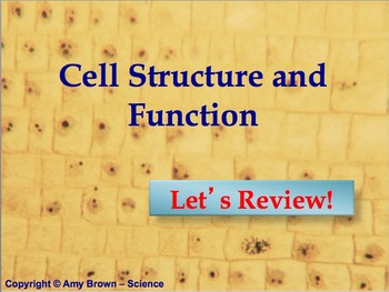 Advanced Placement (AP) Biology Review PPT Cell Structure / Function