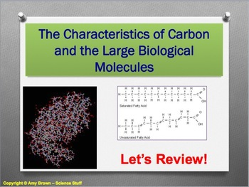 Advanced Placement (AP) Biology Review PPT: Organic Compounds