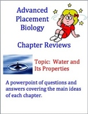 Advanced Placement (AP) Biology Review Powerpoint: Water Properties