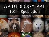 AP Biology (2015) - Unit 1.C - Speciation PowerPoint