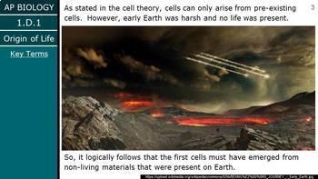 Advanced Placement (AP) Biology - Unit 1.D - Origin of Life PowerPoint