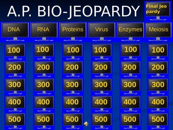 Advanced Placement Biology Jeopardy Genetics