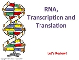 Advanced Placement Biology Review PPT: Transcription and Translation