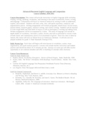 Advanced Placement Eng Lang Syllabi-College Board Approved