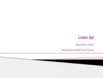 Advanced Placement French Listening Resources
