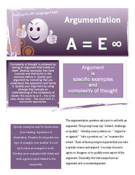 Advanced Placement Language Essay Formulas in color