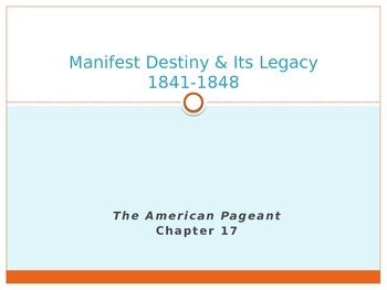 Advanced Placement U.S. History APUSH Bailey Chapter 17 PowerPoint