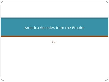 Advanced Placement U.S. History APUSH Bailey Chapter 8 PowerPoint