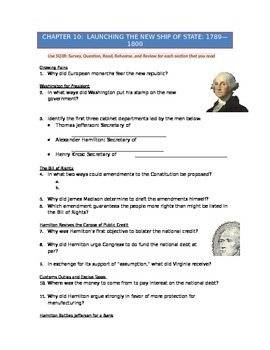 Advanced Placement U.S. History Bailey CH. 10 Study Guide Questions