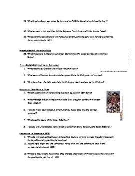 Advanced Placement U.S. History Bailey CH. 27 Study Guide Questions