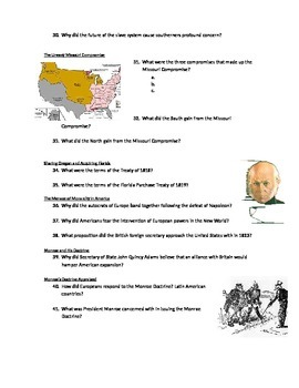 Advanced Placement U.S. History Bailey CH. 12 Study Guide Questions
