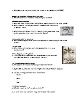 Advanced Placement U.S. History Bailey CH. 14 Study Guide Questions