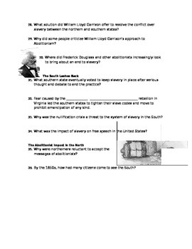 Advanced Placement U.S. History Bailey CH. 16 Study Guide Questions