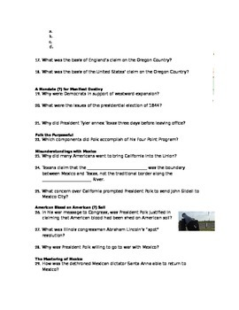 Advanced Placement U.S. History Bailey CH. 17 Study Guide Questions