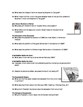 Advanced Placement U.S. History Bailey CH. 19 Study Guide Questions